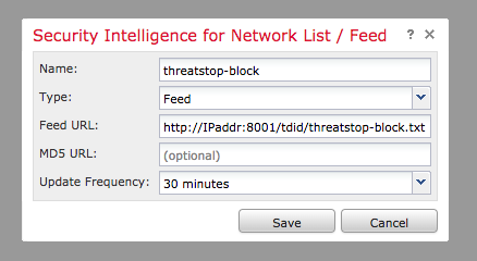 Cisco Firepower integration (TSCM CLI) | ThreatSTOP Dochub